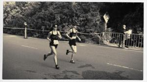 Leslie and Sam looking strong at the Kaiser Half