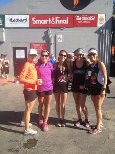 Meg, Leslie, Trinity, Elise, and Hillary post race