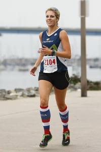 Meg in the 1st mile of the Coronado 5k